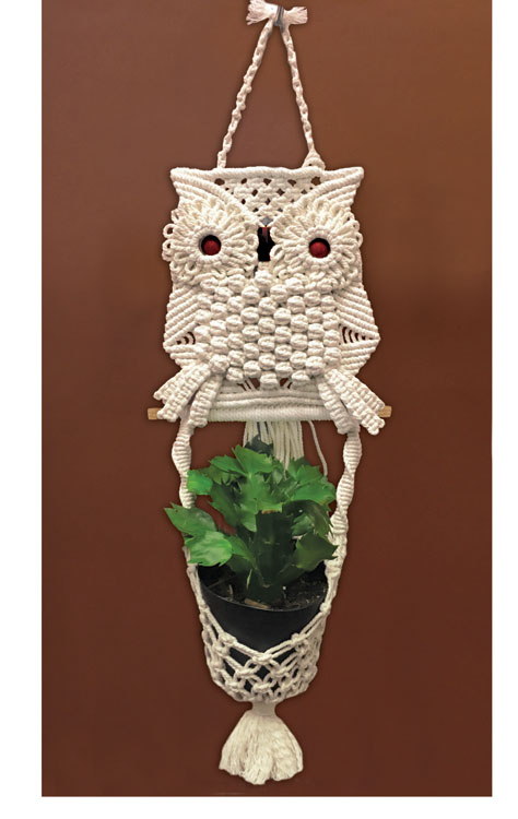 Owl Planter Macrame Kit by Zenbroidery 9 x 32 inch