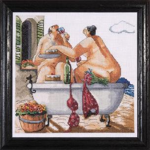 Bathing Beauties 12 x 12 inch Counted Cross Stitch Kit