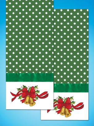 Bells - Kitchen Towel - 18 x 28 inches for Embroidery by Tobin
