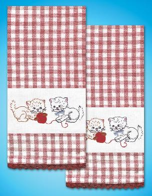 Kitten Fun Kitchen Towels - one pair from Tobin