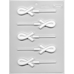 Crossed Ribbons Lollipop Sheet Mold - by LorAnn Oils
