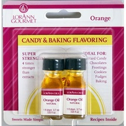 Orange Oil, Natural Flavor - Lorann 1 Dram Twinpack