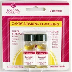 Coconut Candy and Baking Flavor - Lorann 1 Dram Twinpack