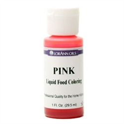 Pink - LorAnn Gourmet Liquid Food Color 1 oz Bottle