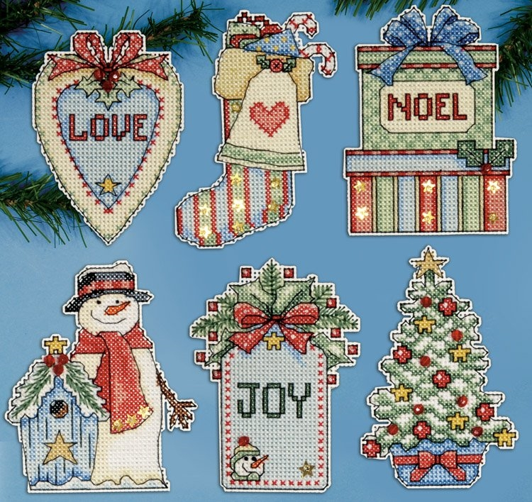 Country Christmas Ornaments Plastic Canvas Kit