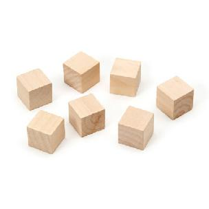 Wood Cubes .75 inch 7 pieces