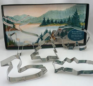 Mountain Lake Cookie Cutter Gift Set by Ann Clark