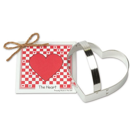 Heart Cookie Cutter 4 inch - by Ann Clark