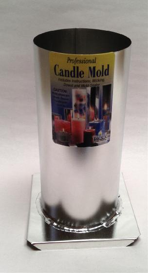 Yaley Metal Candle Mold Cylinder 3 x 6.5 inch