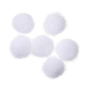 White Acrylic Pom Poms 5mm 40 pieces