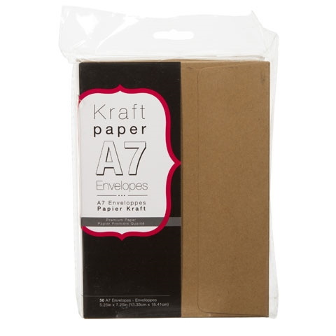 A7 Smooth Kraft 50 pack core'dinations Envelope