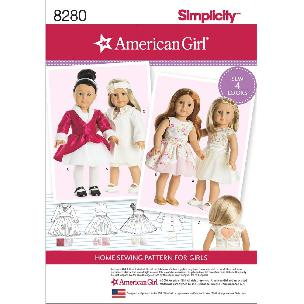 Simplicity American Girl Doll Clothes for 18 Inch Doll 4 outfits