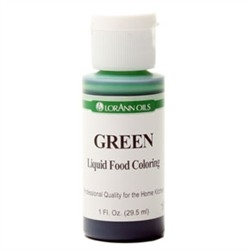Green - LorAnn Gourmet Liquid Food Color 1 oz Bottle