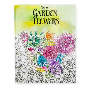Garden Flowers Adult Coloring Book 32 pages