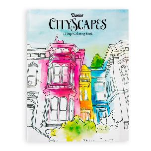 CityScapes  Adult Coloring Book 32 pages