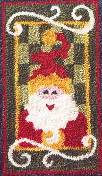 Santa - by Jeri Kelly Punchneedle Design on Weaver's Cloth