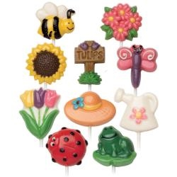 Bugs & Garden 10 Cavity (10 Designs) Candy Mold Set 2-Pack