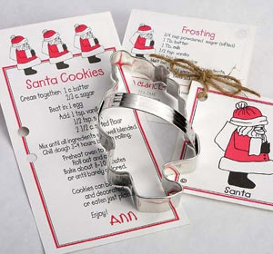 Santa Cookie Cutter 5 inch by Ann Clark