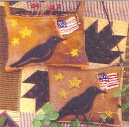 Liberty Pouch w Applique - Needle Punch Pattern by La-D-Da