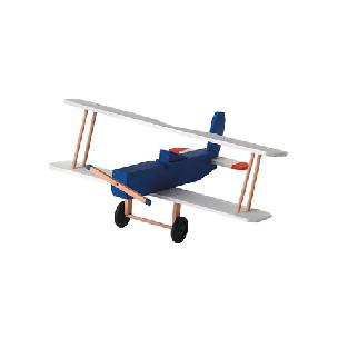 Biplane - Wood Model Kit - 3-1/2 x 8-1/2 x 7-1/2 inches