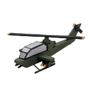 Helicopter, Attack Wood Model Kit
