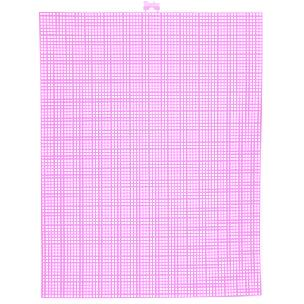 Neon Pink 7 mesh plastic canvas sheet 10.5 x 13.5 inch