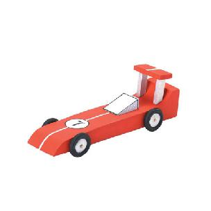 Race Car Wood Model Kit 6-1/4 x 2-1/8 inches