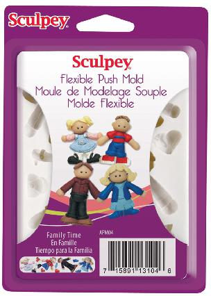 Sculpey Family Time Flexible Push Mold