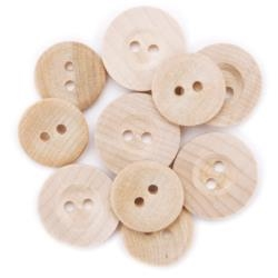 Favorite Findings - Wood Buttons 9/Pkg