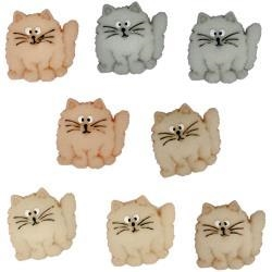 Fat Cats Buttons - 6 pieces by Dress It Up
