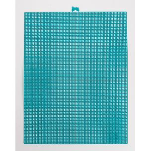 Peacock Blue 7 mesh plastic canvas sheet 10.5 x 13.5 inch