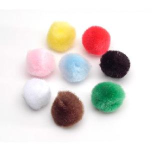 Multicolor Acrylic Pom-Poms .5 inch 100 pieces