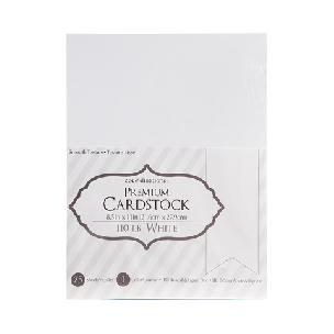 Core'dinations Smooth - 110 lb Cardstock - White - 8.5 x 11 - 25 sheets