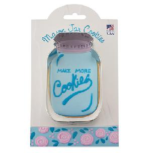 Mason Jar - Make More Cookies Cookie Cutter by Ann Clark