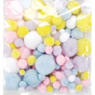 Spring Colored Acrylic Pom-Poms 100 pack