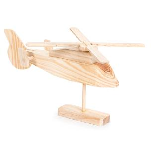 Rescue Helicopter Wood Model Kit