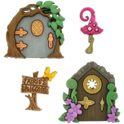 Believe In Fairies - 4 piece Button Set