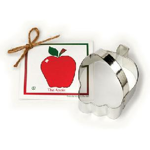 Apple Cookie Cutter - 4 1/4 inches by Ann Clark