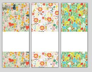 Cat Floral Trio Towel Set for Needlework