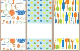 Kitchen Trio Towel Set for Needlework or Fabric Painting