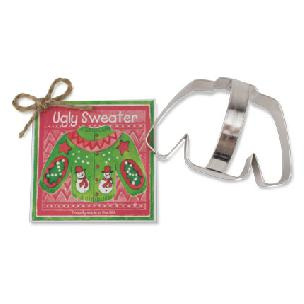 Ugly Christmas Sweater Cookie Cutter 4 1/8 inch by Ann Clark