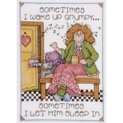 Grumpy - Counted Cross Stitch Kit 5 x 7 inches