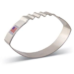 Football Cookie Cutter 4 3/8 inch by Ann Clark