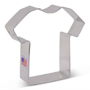 T Shirt Cookie Cutter 3.5 inch by Ann Clark