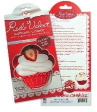 Red Velvet Cupcake Cookie Cutter by Ann Clark