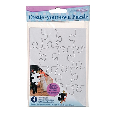 Create Your Own Puzzle - 4 x 5.5 inch - 4 Pack