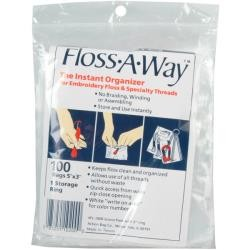 Floss-A-Way Organizer Bags - 3 x 5 inch, 100 Pc Pkg