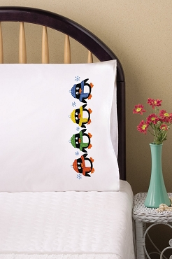 Penguins - Pair of Standard Pillowcases by Tobin