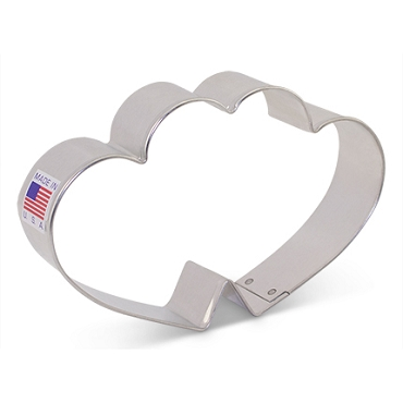Heart - Double Cookie Cutter 4 5/8 inch by Ann Clark