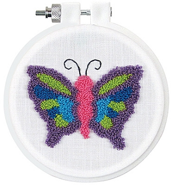 Butterfly - 3.5 inch Punch Needle Kit
